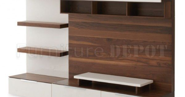 Brown & White Two-Tone Finish Modern Entertainment Unit | Living room ideas | Pinterest ...