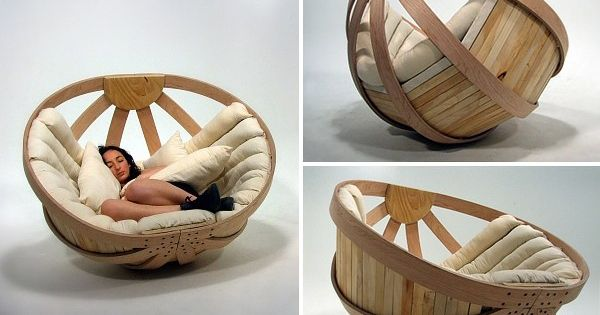 Comfortable and Relaxing Cradle Chair by Coroflot via @Home Design WoodLovers design