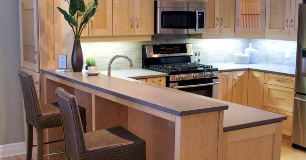 Natural Maple Shaker Cabinets, with Grey Silestone Quartz ... on Natural Maple Cabinets With Quartz Countertops  id=93570