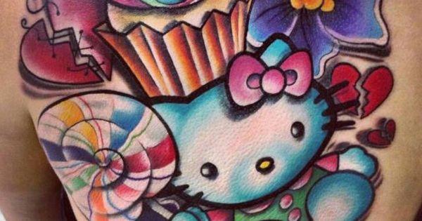 hello kitty candyland tattoo hk pinterest candyland hello kitty and tattoo. Black Bedroom Furniture Sets. Home Design Ideas