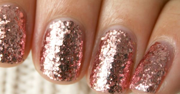 Rose gold sparkle nail polish- china glaze