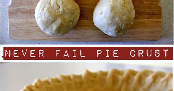 Never Fail Pie Crust (for a sweet potato pie).