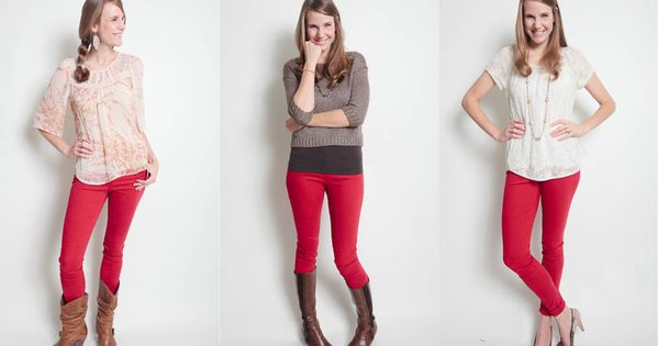 red pants (or any colored pants)