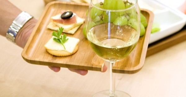 Appetizer Tray with Stem Holder (Set of 8) Looks like a good