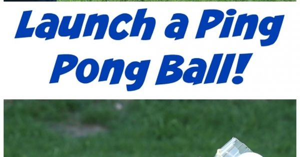 Make A Ping Pong Ball Launcher For Kids Kid And Project