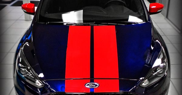 2016 Ford Focus St Wrapped In Quot Kona Blue Quot Paint And Red