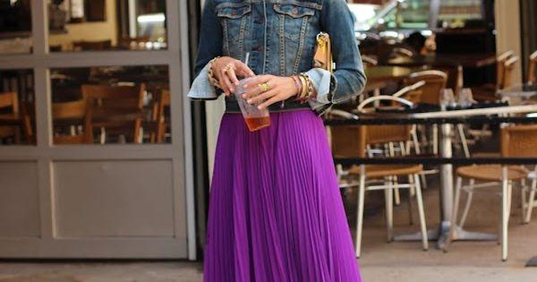 Atlantic-Pacific | jean jacket + long skirt