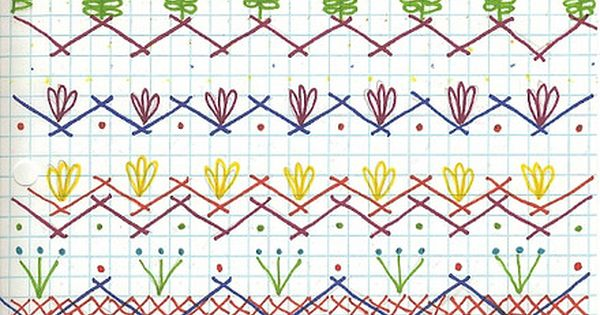 Embroidery borders or Seam Designs for crazy quilt