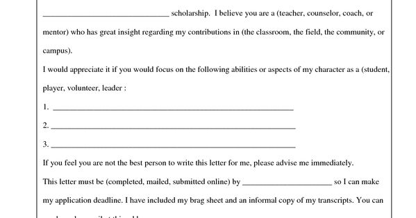 Nursing School Recommendation Letter Sample: Request For Letter Of Reccomendation Template