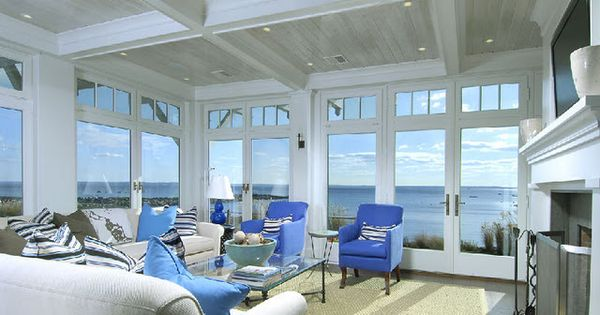 Sunroom layout floor to ceiling windows doors fireplace for French doors with windows either side