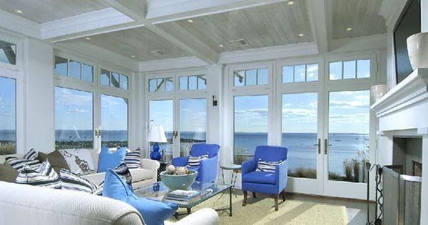 Sunroom Layout Floor To Ceiling Windows Doors Fireplace