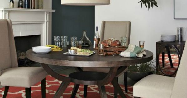 The Arc Base Pedestal Table, West Elm I looked around and West