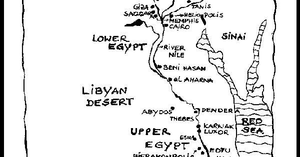 Map of Egypt for Kid Egypt Printable