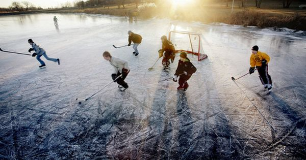 Pond Ice Hockey It Seriously Better Be Cold Enough To Play This Winter Ice Hockey Hockey Winter Skating