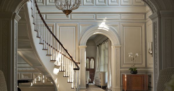 Foyer of a georgian colonial mansion in greenwich ct i for Interior designer greenwich ct