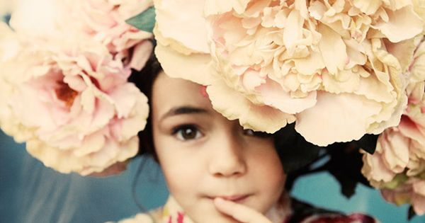 Little girls and fresh flowers.