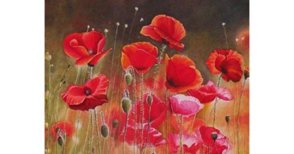 Flores Rojas Arte Decorativo Posters En Allposters Es Flores Rojas Arte Flores