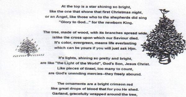 """Christmas Poem--""""God's Christmas Tree"""""""