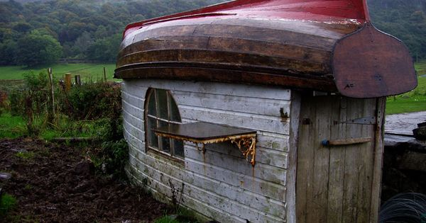 Wood Boat Shelter : Shed with wooden hull for roof ship house pinterest