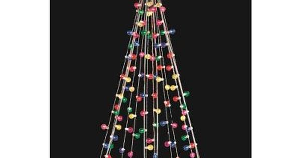Home Accents Holiday 7 Ft Cone Tree With 105 Multi Color Lights Ty171 1218 The Home Depot In 2020 Outdoor Christmas Decorations Animated Christmas Lights Holiday Lights Outdoor