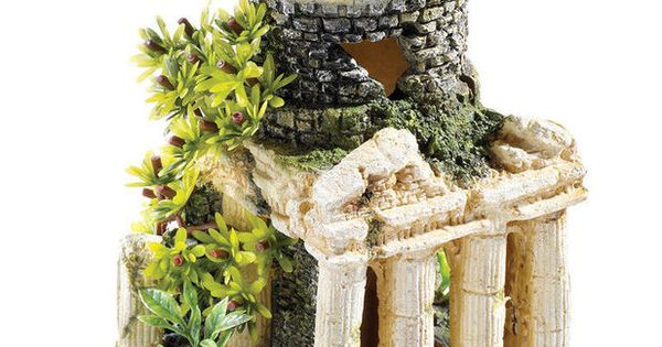 Roman tower ruins 60 litre biorb aquarium ornament fish for Decoration aquarium 60 litres