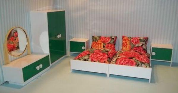 Schlafzimmer Mit Bettzeug Puppenstube Puppenhaus Moebel Vero Original Ddr G Puppenstube Mobel Puppenstube Puppenhaus