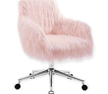 Fuzzy Desk Chair Bed Bath Beyond In 2020 Desk Chair Comfy Pink Desk Chair Chair