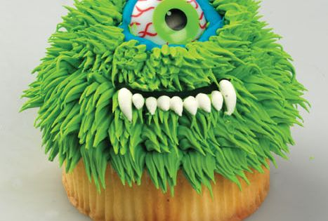 Funny Monster Cupcakes I think any cake mix would work, but these