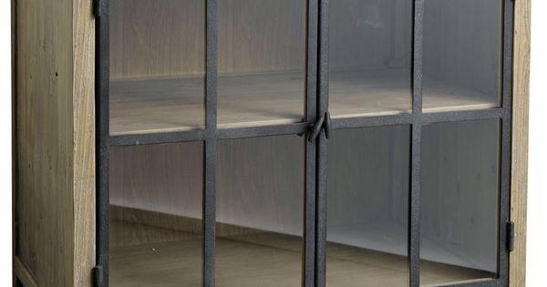 meuble bas vitr de cuisine en bois et pierre l 90 cm copenhague mobilier pinterest vitr. Black Bedroom Furniture Sets. Home Design Ideas