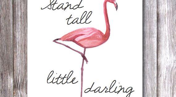 Flamingo Stand Tall Printable Pdf By Thejustpeachyshop On