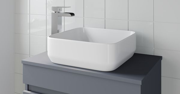The Affine Cannes Countertop Basin Is An Elegant Square Basin Measuring 365 X 365mm Which Can Be Placed Directly Onto The C Countertop Basin Countertops Basin
