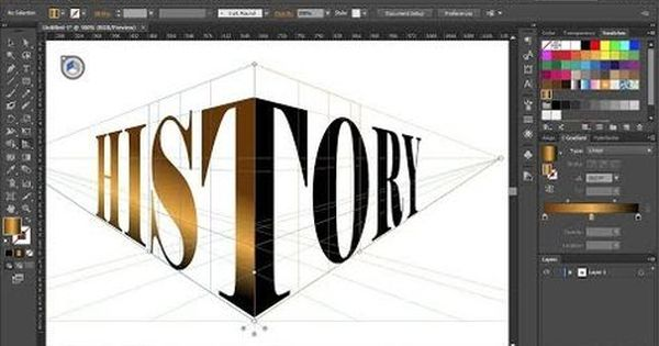 How To Wrap A Single Word Around The Perspective Grid Planes In Adobe Illustrator Youtube Adobe Illustrator Design Graphic Design Tutorials Adobe Design