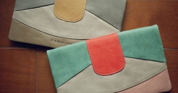 sabrina slim wallets - pastel and color blocked - spot on for