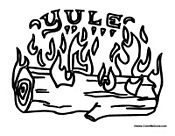 Yule Log Christmas Craft Worksheet Christmas Crafts Free