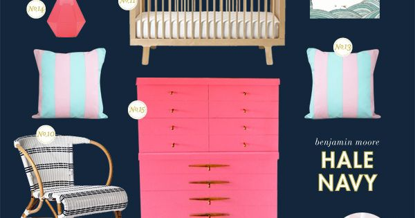 Girl nautical nursery inspiration board. About time! Why do the boys get