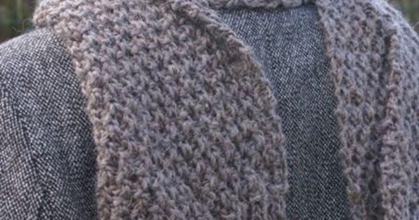Charpe au point de bl pour l 39 homme mod les tricot - Point de ble au tricot ...
