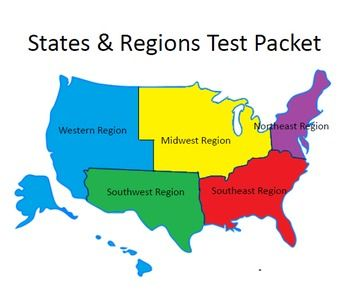USA States & Regions Assessments / quizzes (25 assessments ...