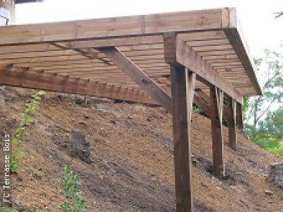 Fc terrasse bois terrasse autoportante la tuile for Piscine sur pilotis
