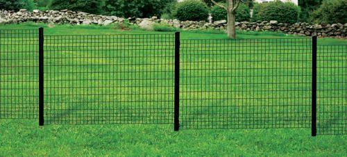 48 Quot H X 71 Quot W Black Euro Fence Panel At Menards Fences