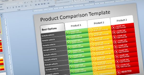free product comparison powerpoint  ppt  presentation