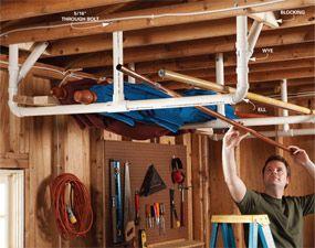 Garage Storage Diy Tips And Hints Overhead Garage Storage Garage Storage Solutions Garage Storage
