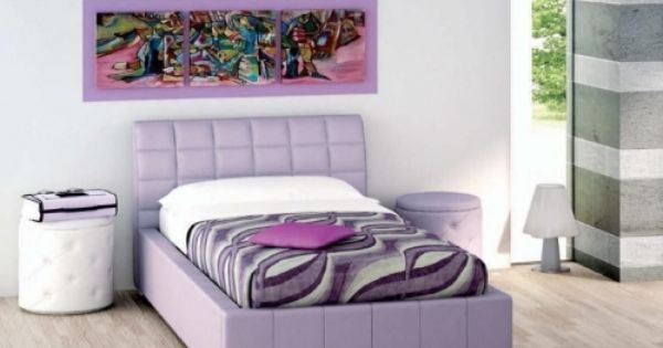 Single Frame Fabric Bed Tito Purple Berry Bella Bed Fabric Bed
