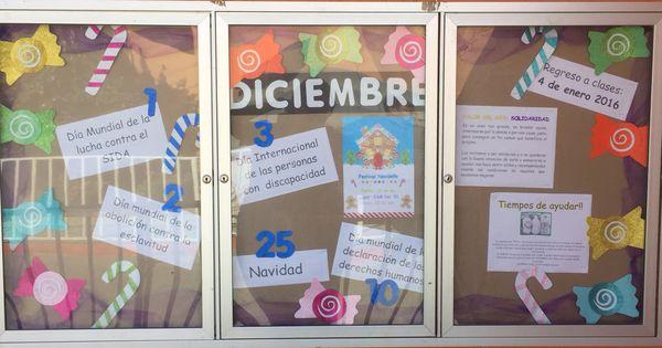 Peri dico mural diciembre preescolar dulces for Diario mural escolar