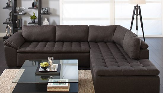 Plummers Wellington 2 Piece Sectional In Brown