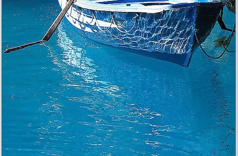 Blue Reflections, Greece. Photo by Petros. From bluepueblo. Just the color of