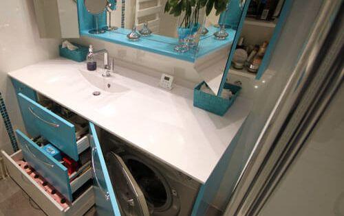 Vasque salle de bain machine laver salle de bain for Amenagement salle de bain original