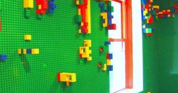 Lego Walls for a kids room I want todo this for my