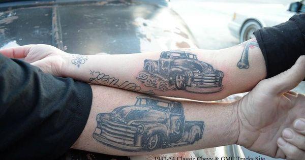 chevy truck tattoo chevy trucks pinterest truck tattoo tattoo and tatting. Black Bedroom Furniture Sets. Home Design Ideas