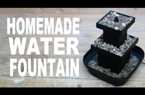 Diy how to make mist waterfall tabletop waterfall for Homemade tabletop water fountain