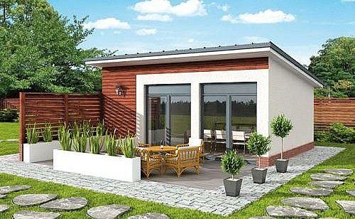 Projekt Kl3 Kuchnia Letnia Bud Gospodarczy Df54 Backyard House Minimal House Design Small Villa